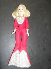 Vintage 1970's Genuine Eegee Co Dolly Parton Doll in Red Jumpsuit