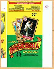 1987 OPC Display Box-Top Proof Panel, NY Yankees' Dave Righetti