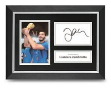 Gianluca Zambrotta Signed A4 Framed Photo Display Italy Autograph Memorabilia