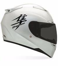 4 x Black  Suzuki hayabusa moto sticker for helmet fairing decal motorcycle