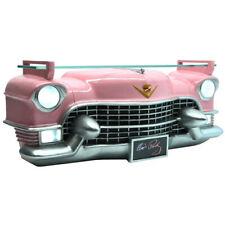 3D Wall Shelf 1955 Pink GM Cadillac Working Lights & Flashing Elvis Nameplate