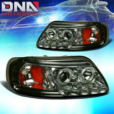 FOR 97-03 F150/EXPEDITION SMOKE DUAL HALO PROJECTOR+LED/AMBER CORNER HEAD LIGHT