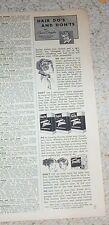 1954 print ad - Toni hair home perm beauty tips do's & don'ts Gillette ADVERT