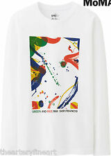 SAM FRANCIS x UNIQLO 'Green and Red' 1966 Abstract Art Long-Sleeve T-Shirt M NWT