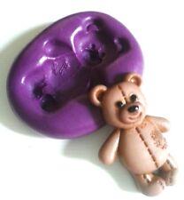 Teddy Bear moule silicone 36 mm FIMO pâte fondant massepain Sugarcraft Clay