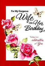 For My Gorgeous Wife On Her Birthday - Birthday Greeting Card - 07047