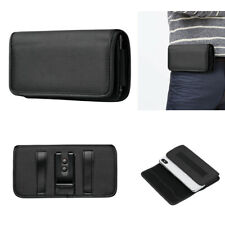 Horizontal Waist Belt bag Clip Holster canvas Card Wallet Carry Pouch Case Cover
