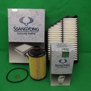 GENUINE SSANGYONG KORANDO SUV C200 SERIES 2.0 L TD FILTER PACK(OIL + AIR FILTER)