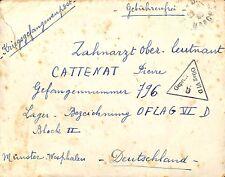 LETTRE PRISONNIERS DE GUERRE / KRIEGSGEFANGENENPOST MUNSTER OFLAG VI D 1940