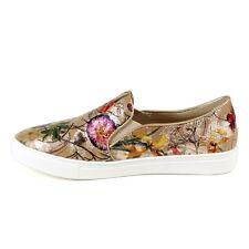 Reneeze Slipon Khaki Gold Floral Olga 08 Sneakers Size 9 Worn Once or Twice