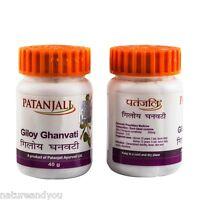 Patanjali Giloy Ghan Vati Guduchi Tinospora Cordifolia Divya Herbal Tablet 40g