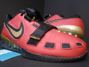 2014 NIKE ROMALEOS 2 WEIGHTLIFTING SHOES RED GOLD BLACK 476927-670 10