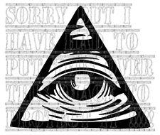 Illuminati tutti vedono Eye of Providence Vinile Decalcomania Adesivo BMW VW AUDI MERCEDES