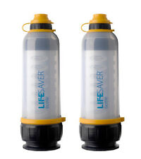 TWO LIFESAVER 4000 LITERS ULTRA FILTRATION WATER FILTER BOTTLE 4000UF NO VIRUSES