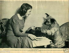1930 Book Plate Dog Print Skye Terrier Stormy Weather Jeanette MacDonald Faith