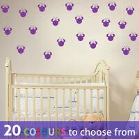 MINNIE MOUSE head pack ears 3 in inch wide wall art sticker decal disney nursery