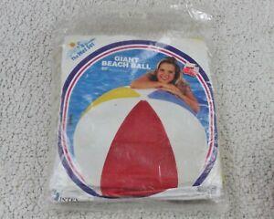 """60"""" Vintage 1995 INTEX Wet Set Inflatable Vinyl BEACH BALL Sealed Pool Toy NOS"""