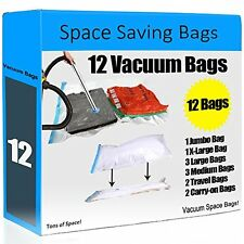 12 Space Saver Vacuum Storage Bags - Super Value Pack. Space saving bags like