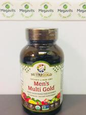 NutriGold Men's Multi Gold 90 Veg Caps. Plant-Based Whole Food Nutrients