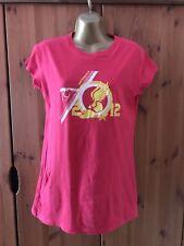 New Balance Pink Ladies Running T-shirt, Size Small