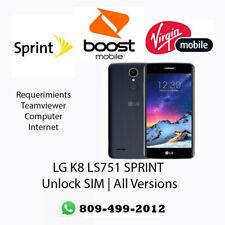 Unlock SIM LG K8 LS751 SPRINT All Versions