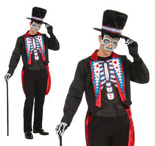 Adult Mens Long Tail Suit Fancy Dress Costume Day Of The Dead Outfit Halloween