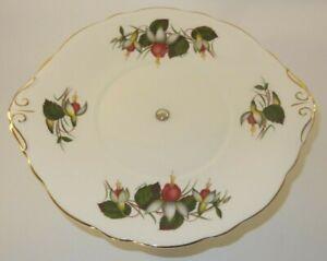 Vintage Regency China Fuchsia Design Cake Or Sandwich Serving Stand Excellent