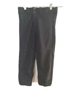 Rawlings Youth Baseball Pants Elastic Waist with Snaps  Black NEW