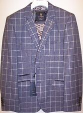 MENS  CAVANI DESIGNER BLAZER BLUE TWEED   BLAZER/JACKET/COAT SIZE 42 CHEST