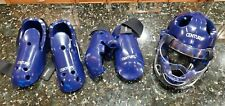 Century Karate Sparring Gear Set; Helmet with Face Shield, Gloves, Boots, New!