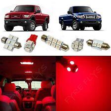 6x Red LED lights interior package kit for 1998-2011 Ford Ranger FR1R