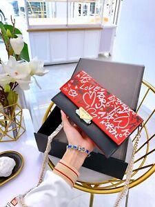 Michael Kors Cece Leather Large Crossbody/Shoulder Bag Solid, Graffiti Clutch