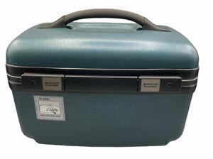NWT American Tourister Green Train Case W/Keys Shelf & Mirror Hard Shell New