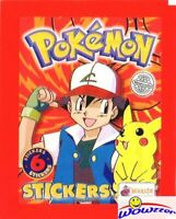 1999 Topps Merlin POKEMON Factory Sealed Pack-6 Mint Stickers! Over 20 Years Old