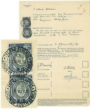"SOUTH AFRICA - 1936 ""SHARES"" document with 2x 1931 KGVI 3/- (ME253)**"