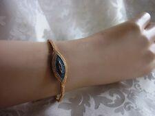 Armband Straß Steine magisches Auge Handarbeit