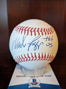 Wade Boggs HOF 2005 Signed Autographed OML Baseball Beckett COA Red Sox Yankees