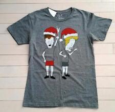JACK OF ALL TRADES Grey HOLIDAY Christmas T-Shirt MTV BEAVIS BUTT-HEAD ( M )