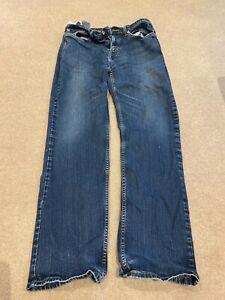 Mens Levis 514 Jeans 34/34 Blue good condition zipped