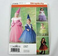 Simplicity Toddler Princess Costume Sewing Pattern 2569 Uncut Size 1/2 1 2 3