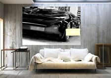 Giant poster style WALLPAPER 175 x 115cm Black sports car luxury wall mural
