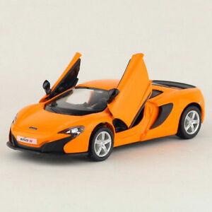 1:36 McLaren 650s Sports Car Model Metal Diecast Gift Toy Vehicle Kids Orange