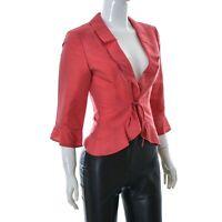 Vera Mont pour Femmes Bolero Blazer Veste Haut Taille GB-8 Rouge 34 Authentique