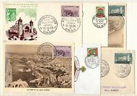 A136480/ FRENCH ALGERIA / LOT OF 6 FDC VARIOUS VISUALS