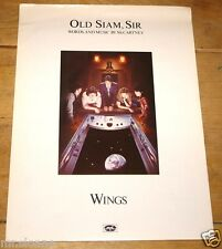 PAUL MCCARTNEY ~ OLD SIAM SIR ~ ORIGINAL LYRIC PIANO GUITAR MUSIC SONG SHEET