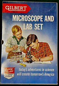 Vintage 1950's Gilbert Microscope and Lab Set - Excellent Condition