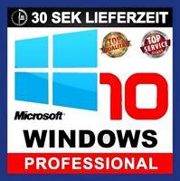 Windows 10 Professional 32/64 Bit VOLLVERSION Win Pro KEY Lizenz MULTILINGUAL
