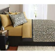 King Size Bed in a Bag 8 Piece Bedding Set Animal Print Comforter Sheets Shams