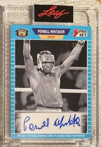 Pernell Whitaker 2021 Leaf Pro Set Autograph Auto 23/25 - BOXING - Team USA Rare