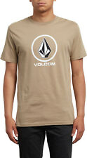 Volcom Crisp Short Sleeve T-Shirt in Sand Brown